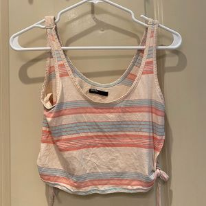 Urban outfitters/bdg striped crop top